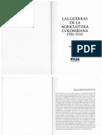Dario Fajardo. Las Guerras de La Agricultura Colombiana.
