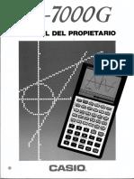 Manual CASIO Fx-7000G