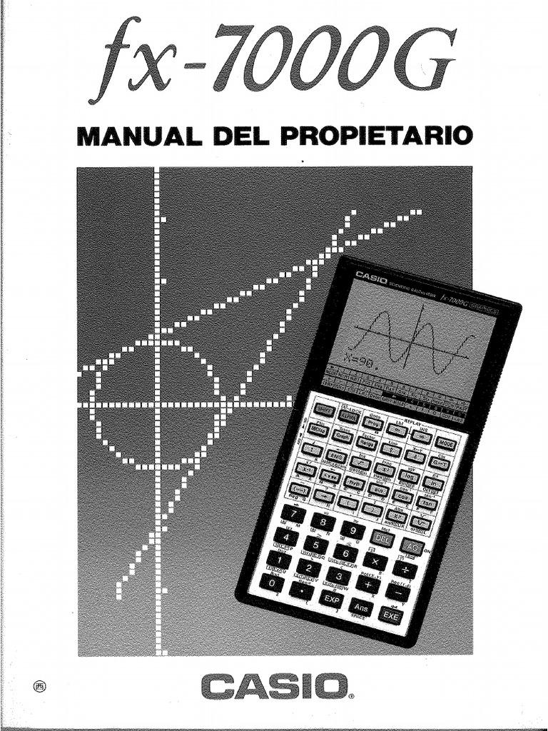casio fx 9860gii manual pdf