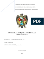 Integrales en Ciencias Biologicas