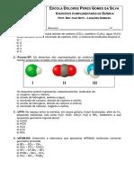 Ligações Químicas 3o.ano Exercícios.sesi