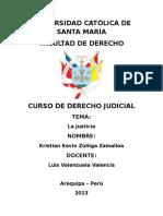 Monografía La Justicia
