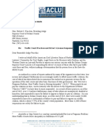 Letter to Solano County Superior Court