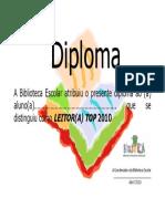 Diploma Leitor Top