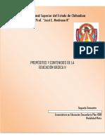 Propositos y Contenidos de La Educacion Basica II