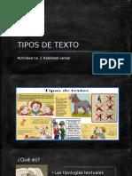 [Presentación] Tipos de texto
