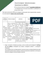 Tipos de Investigación - Aplicación Con 3 Trabajos de Grado- Trabajo de Clase