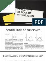 Conceptos Básicos de Optimización