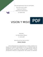 Capacitacion Pedagogica. Vision y Mision