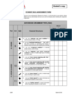 AG2 Student Self-Assessment Form