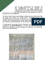 Indicaciones y Ejemplos Para La Entrega de Los Antecedentes y El Marco Teórico