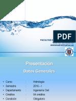 Introduccion Hidrologia 2016 UNP