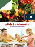 Tabla Ph de Los Alimentos