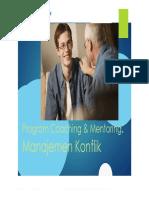 Program Coaching & Mentoring Manajemen Konflik - Meta Inovasi Untuk Anda