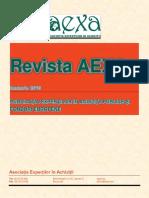 Revista AEXA Ianuarie 2016