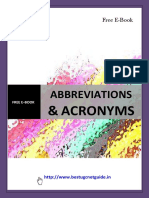 Free e Book on Abbreviations for B.ed , ctet