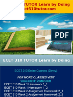 ECET 310 TUTOR Learn by Doing - Ecet310tutor.com