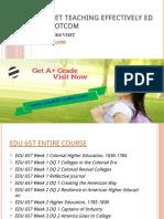 EDU 657 OUTLET Teaching Effectively Edu657outletdotcom