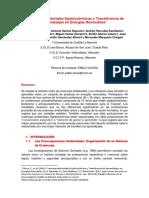 Creencias Ambientales Egobiocéntricas y Transferencia de Aprendizajes en Energías Renovables