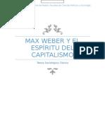 Max Weber y El Espíritu Del Capitalismo