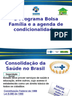 Aula 3 -O Programa Bolsa Família e a Agenda de Condicionalidades