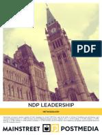 Mainstreet - NDP Leadership