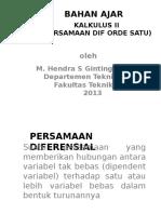 Pers Dif Orde Satu