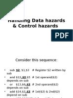 Handling Data Hazards & Control Hazards