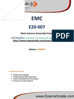 ExamsGrade E20-007 Test PDF Practice Questions