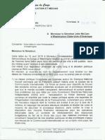 Lettre du gouvernement congolais au sénateur américain John McCain