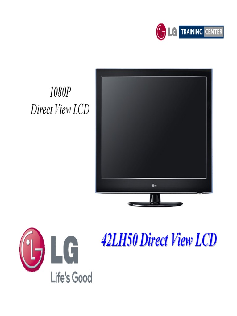 Lg 42lh50 Lcd Tv Training Manual 2009 | High Definition Television |  Display Resolution