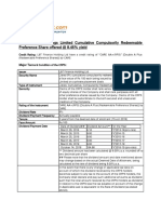LT Finance Pref Product Note
