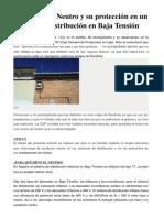 6-El Conductor Neutro y Su Protección en Un Sistema de Distribución en Baja Tensión