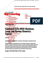 Combined-Cycle HRSG Shutdown, Layup, And Startup Chemistry Control -POWER