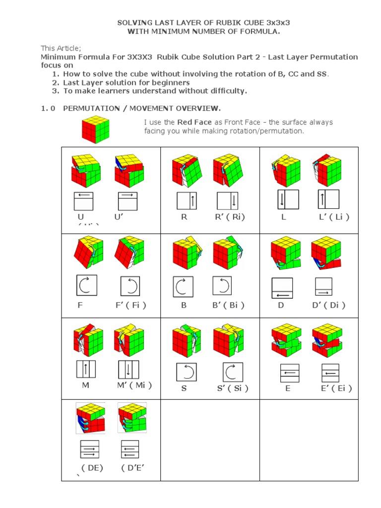 Rubik cube solution pdf in malayalam free