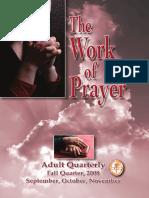 the work of prayer