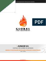 Central Incêndio Global Ezalpha JUNIOR-V4 Installation Manual (PT)