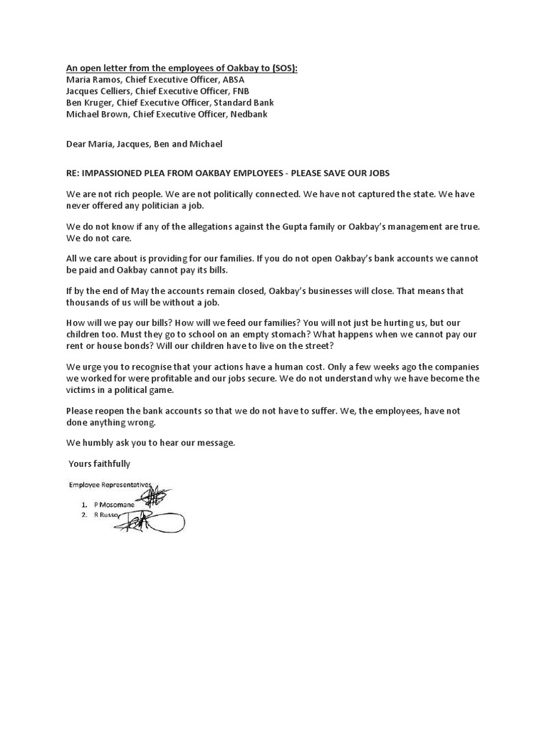 An open letter from the employees of oakbay thecheapjerseys Image collections
