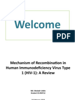 Mechanism of Re Combination in HIV-1- A Review