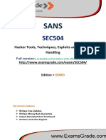 ExamsGrade SEC504 Latest Questions & Answers