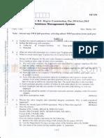 DBMS question paper Dec 14