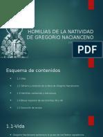 Homilias de La Natividad de Gregorio Nacianceno
