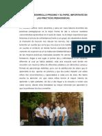 La Zona de Desarrollo Proximo y Su Papel Importante en Las Practicas Pedagogicas