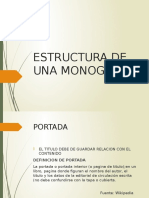 Estructura de Una Monografia
