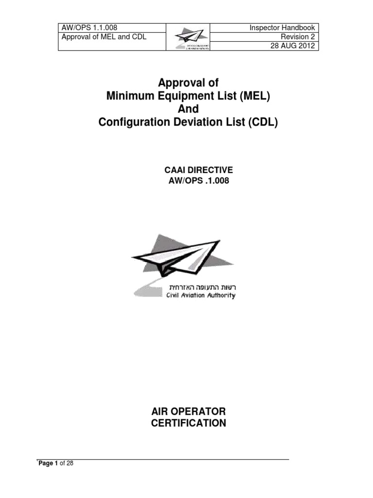 11008 approval of mel and cdl rev 2 instrument flight 11008 approval of mel and cdl rev 2 instrument flight rules aviation 1betcityfo Image collections
