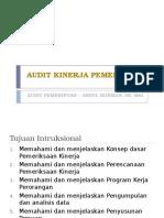 Audit Kinerja