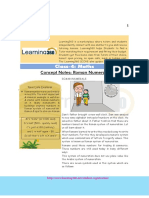 Maths Concept Notes – Class 4 – Roman Numerals.