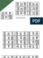 Juego de Combinaciones Multiplicativas Basicas