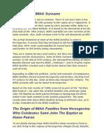 The Origin of Mihić Surname