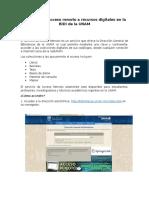 Manual Para Acceso Remoto a Recursos Digitales en La BIDI de La UNAM